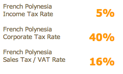 French Polynesia Tax Rates 5%